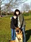 Luke Sponsored Swim<br />RPD Taz with Handler Elaine Michaels